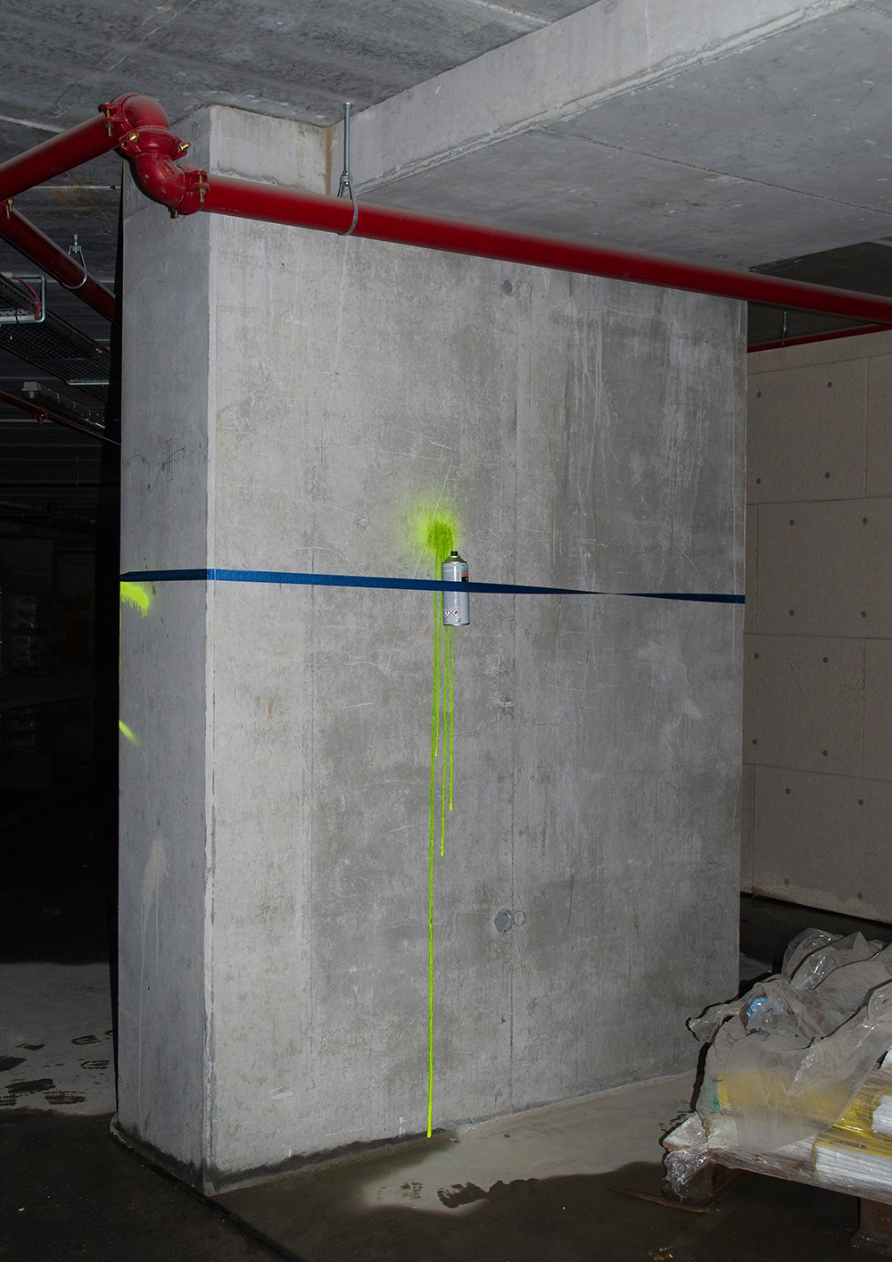 ', Intervention in underground public parking space, commissioned for The Archive Hotel, Documented action, digital photograph (Callewaert Vanlangendonck Gallery)